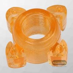 Transparent 4 Tube FingerCock Ring CR-010
