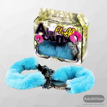 Ankle Fluff Cuffs with Keys BDSM-012