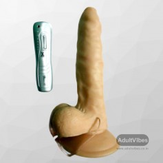SexFlesh MultiSpeed Maddox Vibrating Dildo with SuctionV2 DV-045