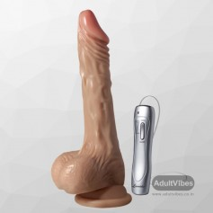 SexFlesh MultiSpeed Maddox Vibrating Dildo with SuctionV3 DV-046