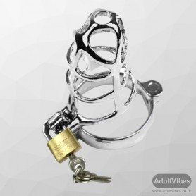 Chastity Steel Lock Device for Men BDSM-010