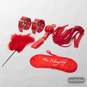 BDSM SEX KIT Bracelet+Whip+Goggles+Feather+Mouth Ball Gag BDSM-001